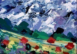 Rolling Hills by Duncan MacGregor -  sized 17x12 inches. Available from Whitewall Galleries